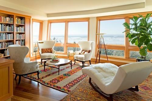 Красивая гостинная комната